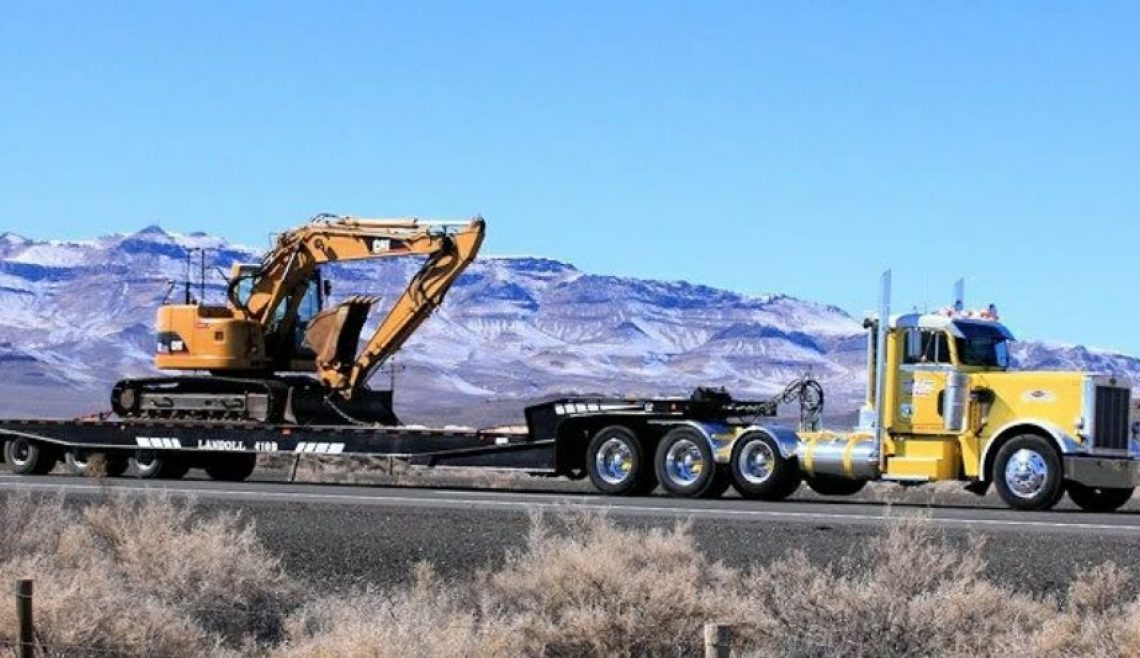 A-1 Trucking Moving Excavator