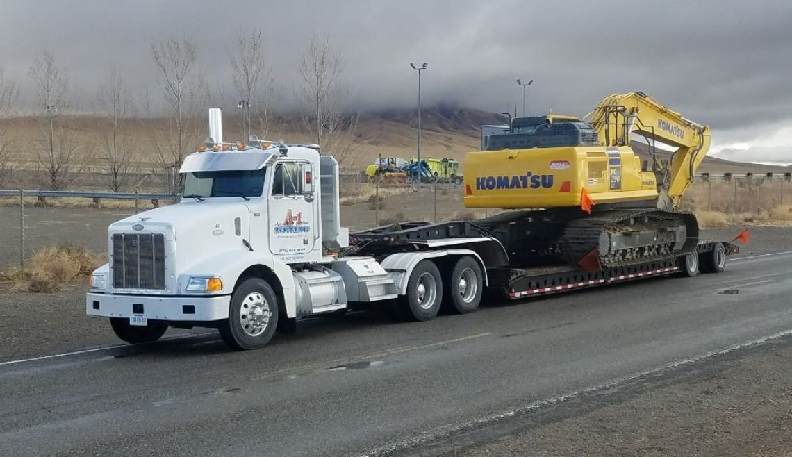 A-1 Trucking Moving Excavator2