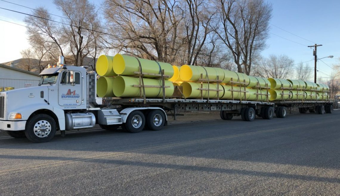 A-1 Trucking Moving Pipe