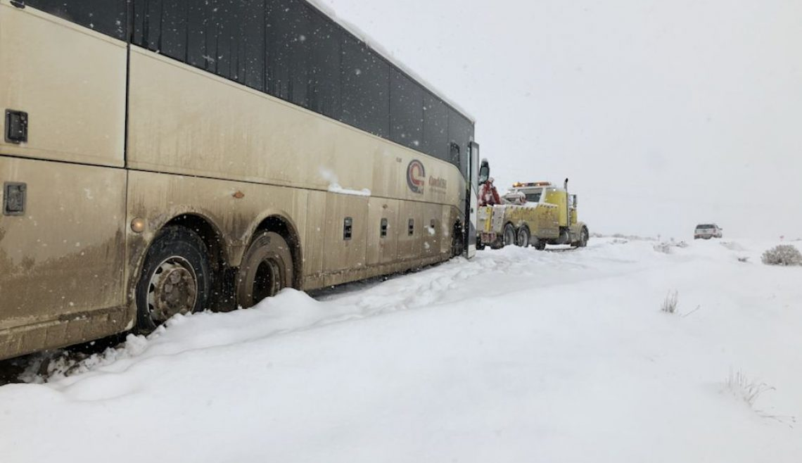 Bus Stuck in Snow Recovery