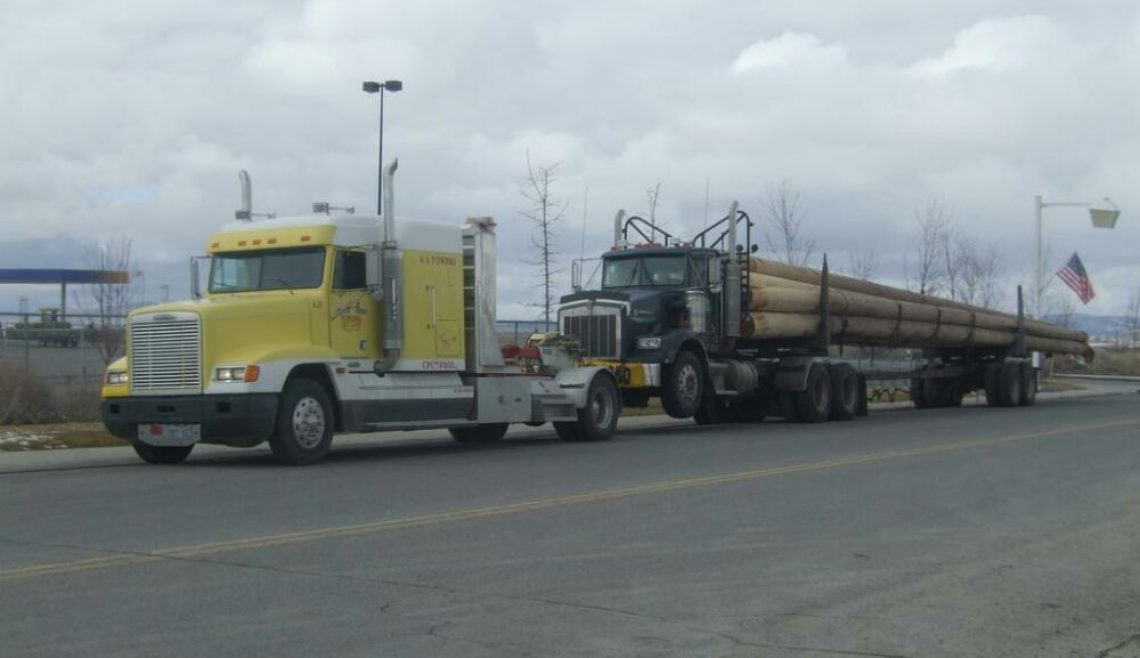 Loaded Logging Truck Recovery