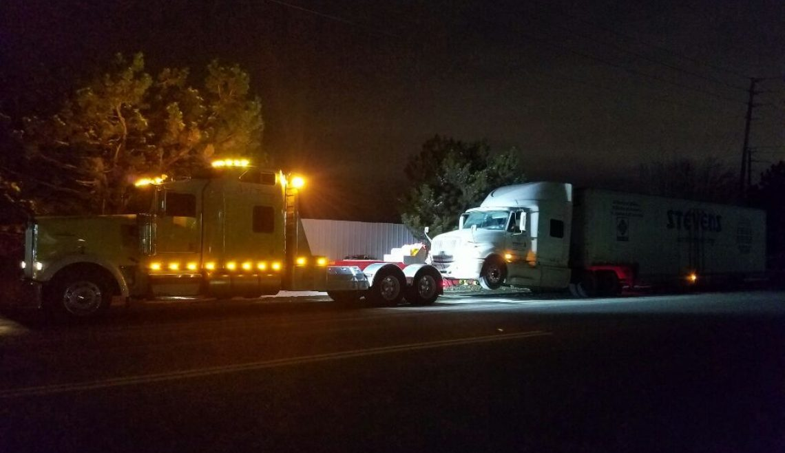 Nighttime Truck Recovery