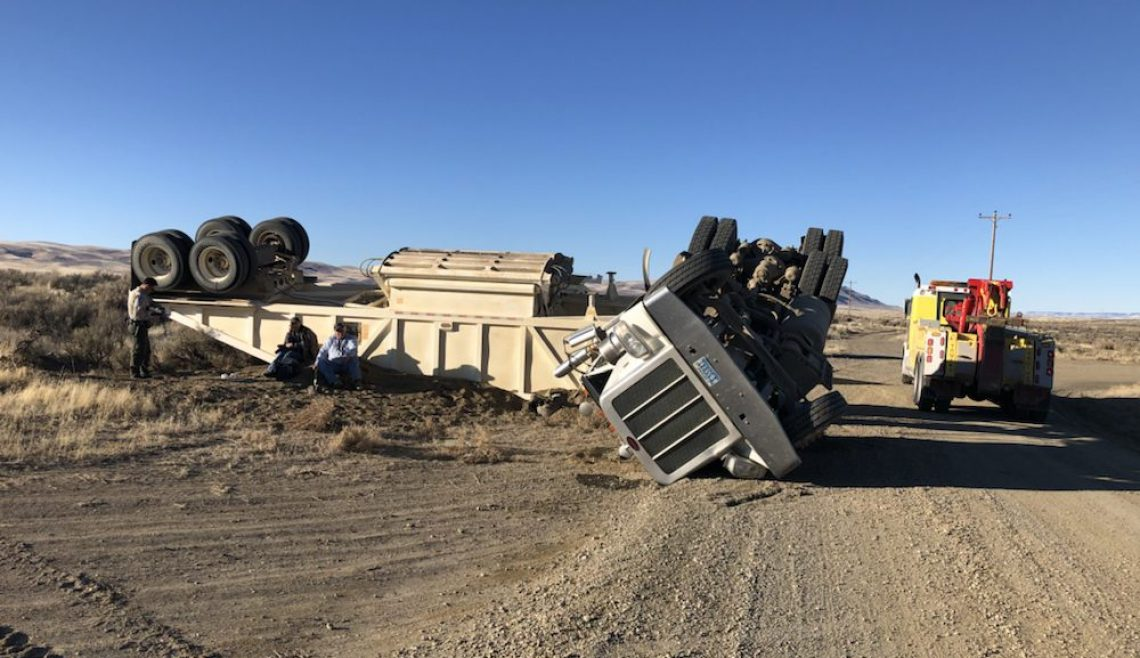 Overturned Ore Truck Rescue
