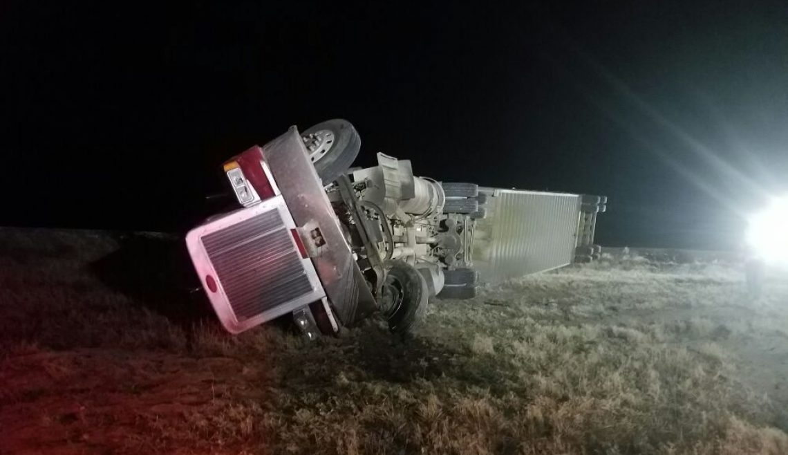 Overturned Semi Trailer Recovery