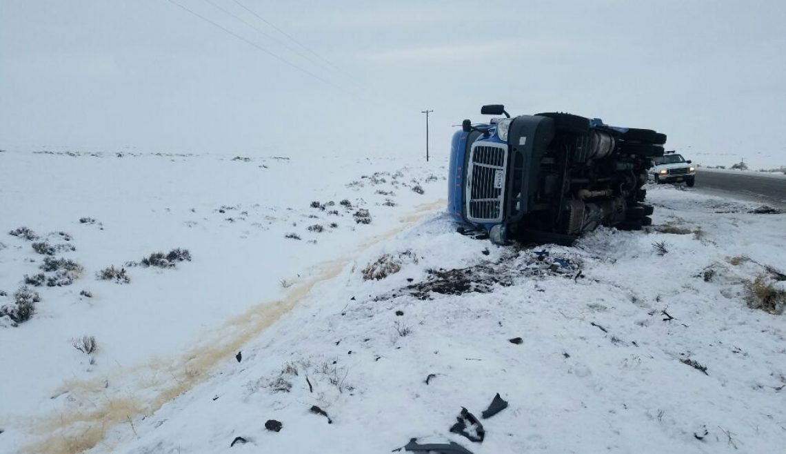 Recovering Overturned Semi in Oregon