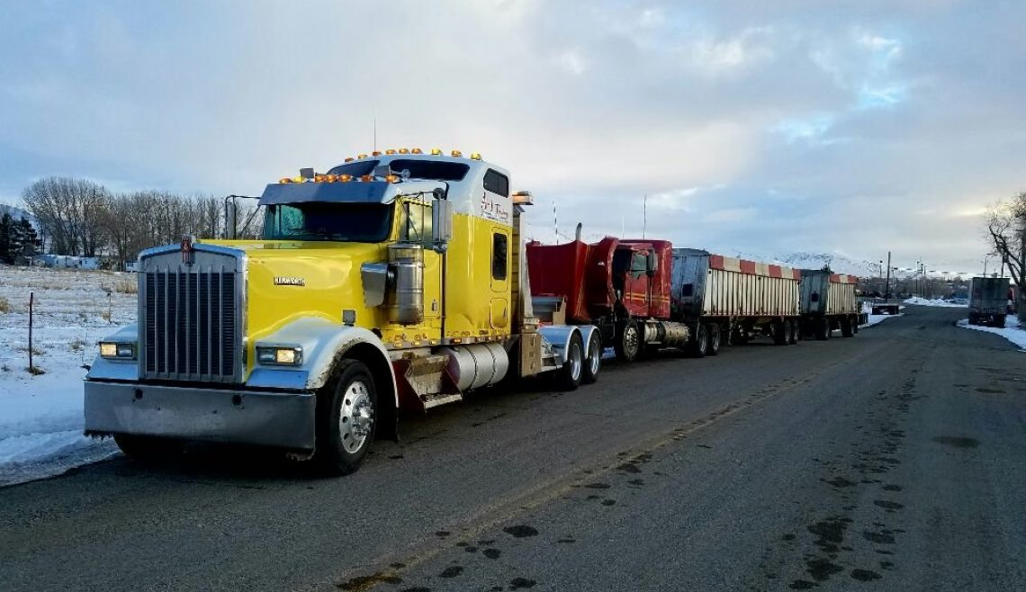 Semi Truck and Double Trailer Recovery