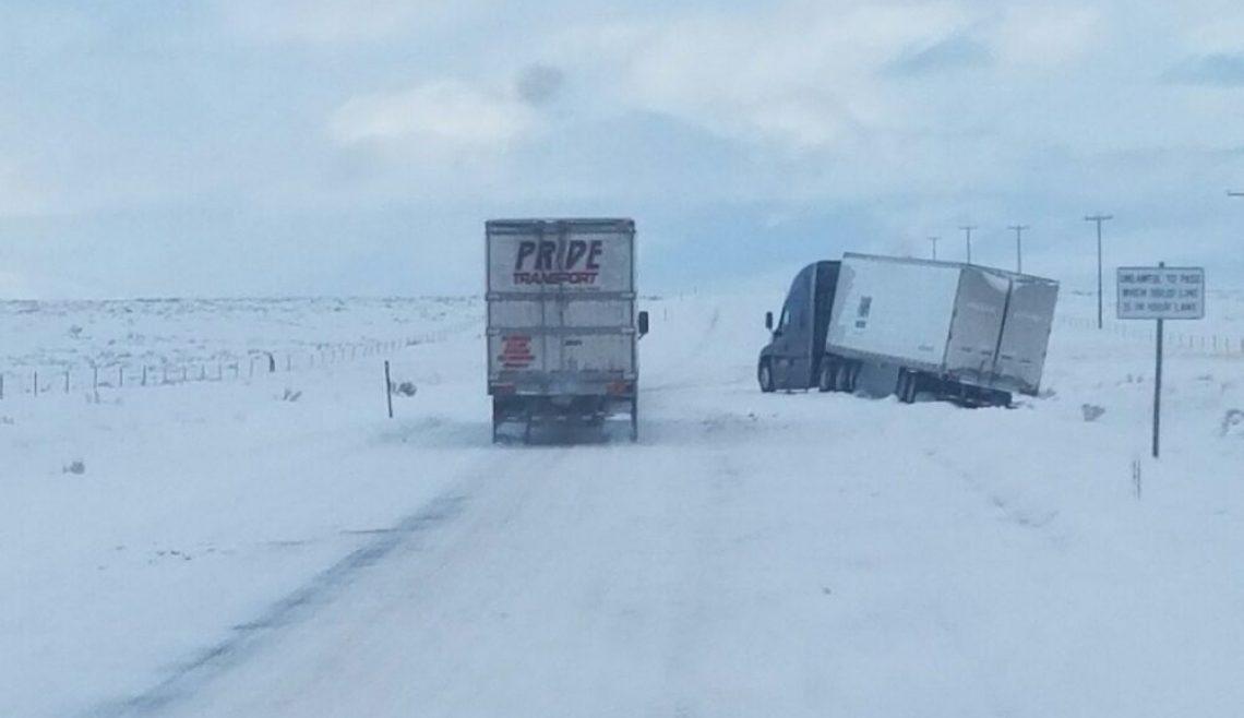 Snowy Semi Truck Recovery