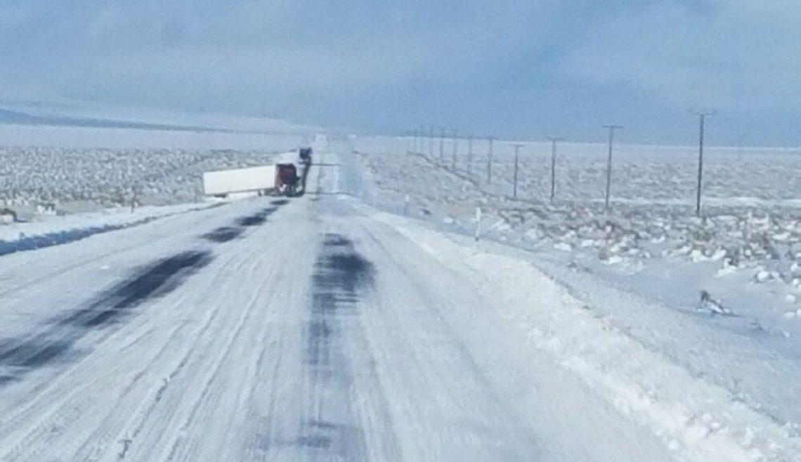 Snowy Semi Truck Wreck Recovery